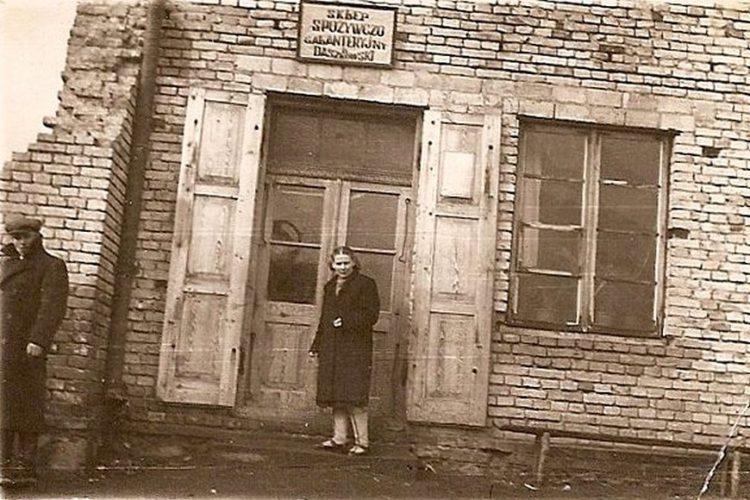 Sklep w Andrzejewie z 1949 roku, stare zdjęcia