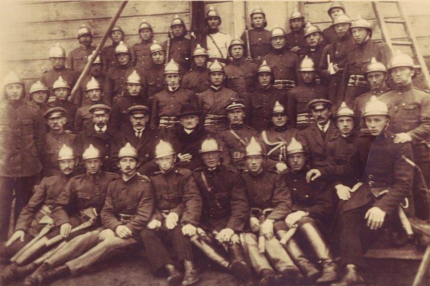 Straż pożarna w Andrzejewie w 1930 roku