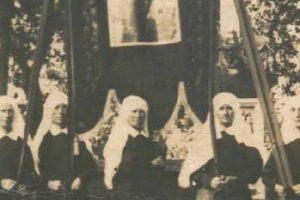 Chorągiew zkościoła wAndrzejewie ok. 1932 r.
