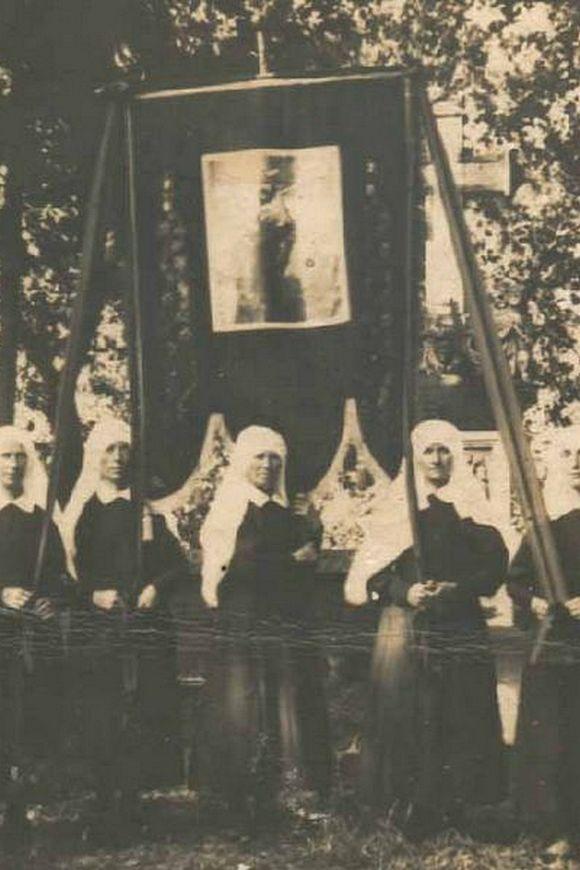 Chorągiew z kościoła w Andrzejewie ok. 1932 r.