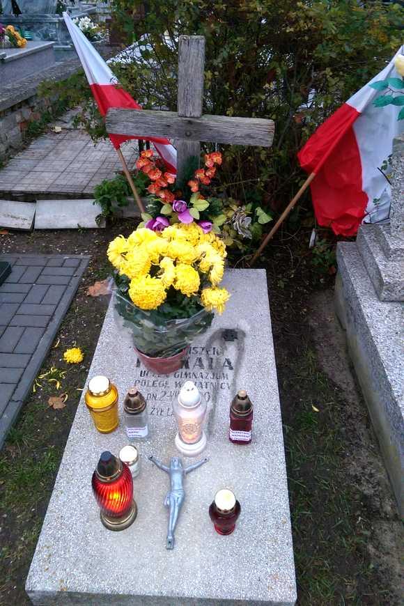 Grób Franciszka Penkali na cmentarzu w Łomży