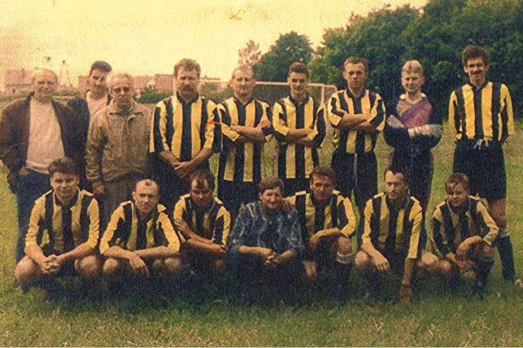 LKS Fortuna Andrzejewo przed meczem w Goniądzu
