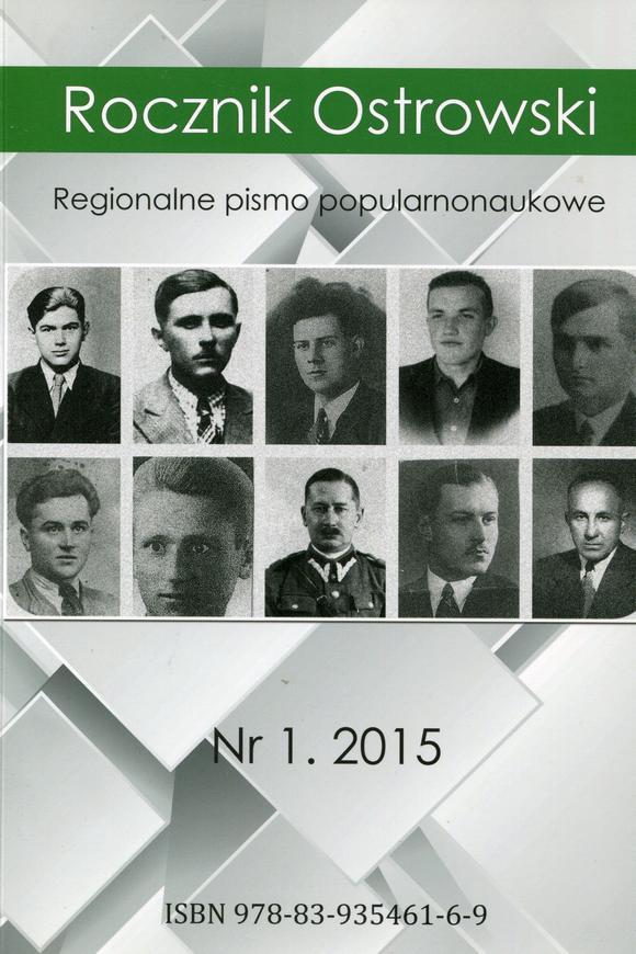 Rocznik Ostrowski nr 1 rok 2015