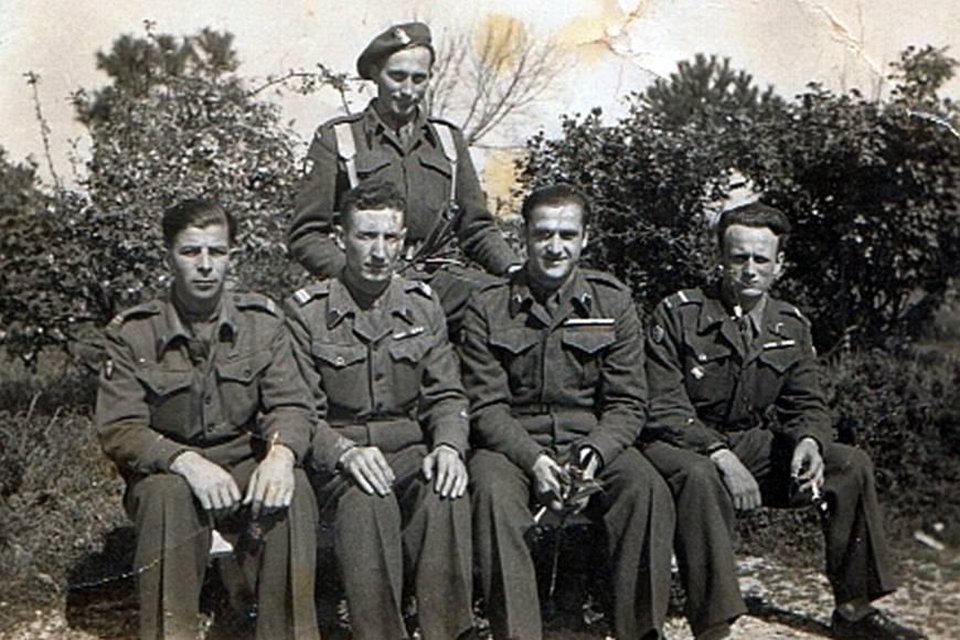 Henryk Cimoch we Włoszech w 1944 roku