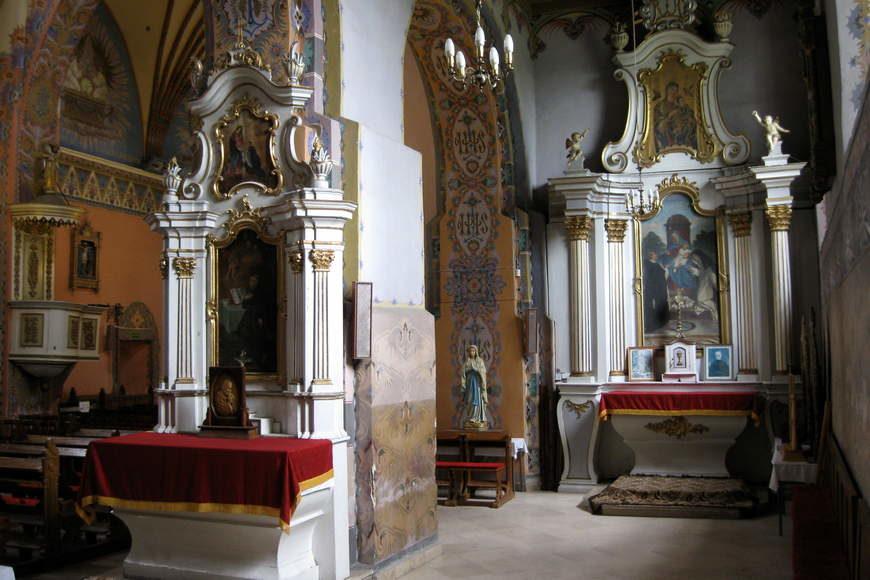 Nawa boczna kościoła w Andrzejewie