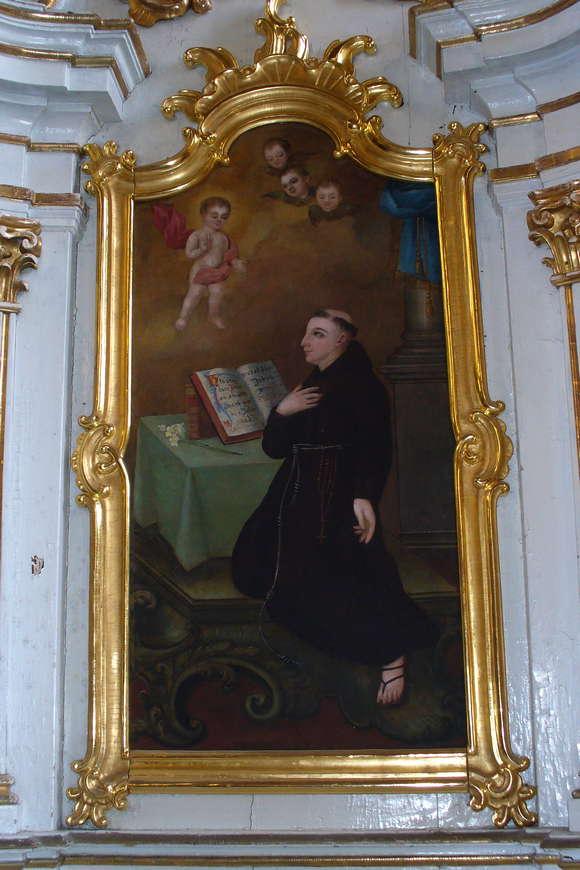 Odnowiona rama iobraz św.Antoniego