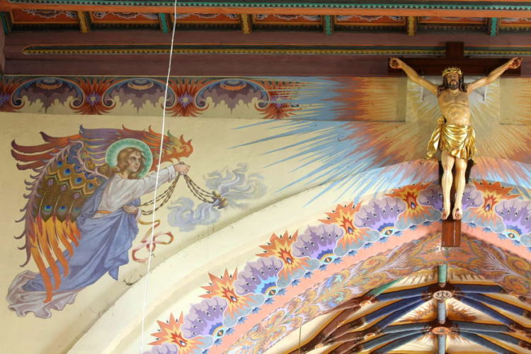 Polichromia w kościele parafialnym w Andrzejewie