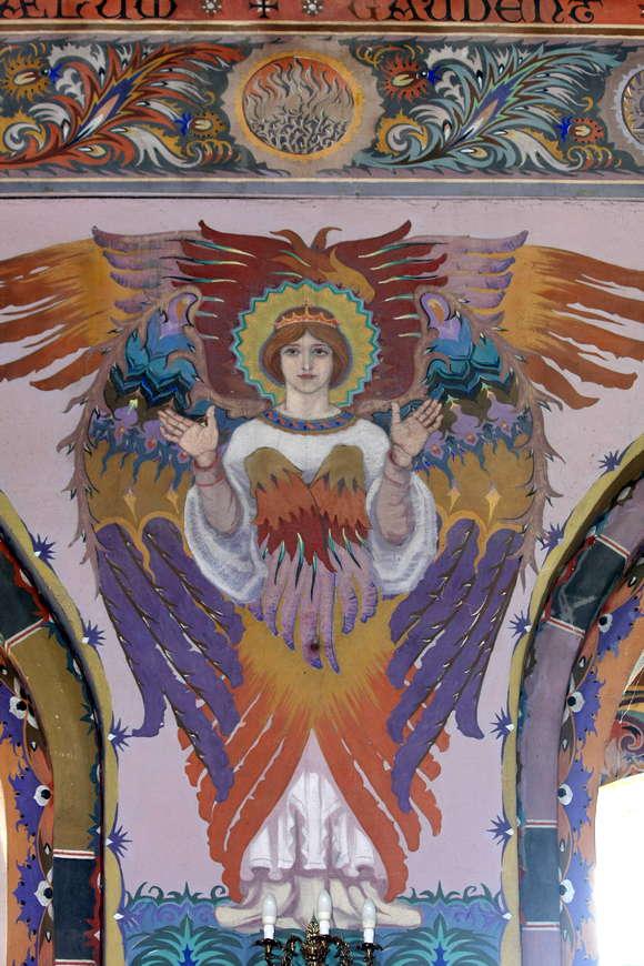 Twarze wielu aniołów są twarzami młodych parafian, portretowanych wroku 1938