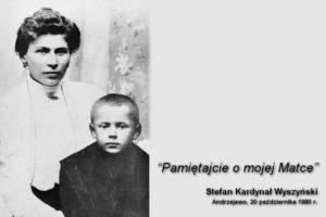 Stefan Wyszyński z matką Julianną (fotomontaż). Zdjęcie pochodzi ze zbiorów Instytutu Prymasowskiego Stefana Kardynała Wyszyńskiego w Warszawie.
